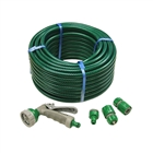 Faithfull PVC Reinforced Hose 30m with Fittings & Spray Gun