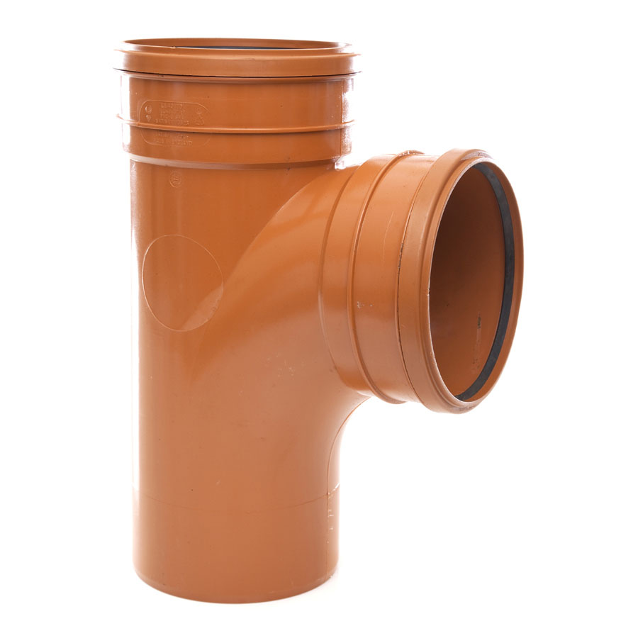 Polypipe Underground Drain 160mm 87° Double Socket Equal Junction UG624 image 0