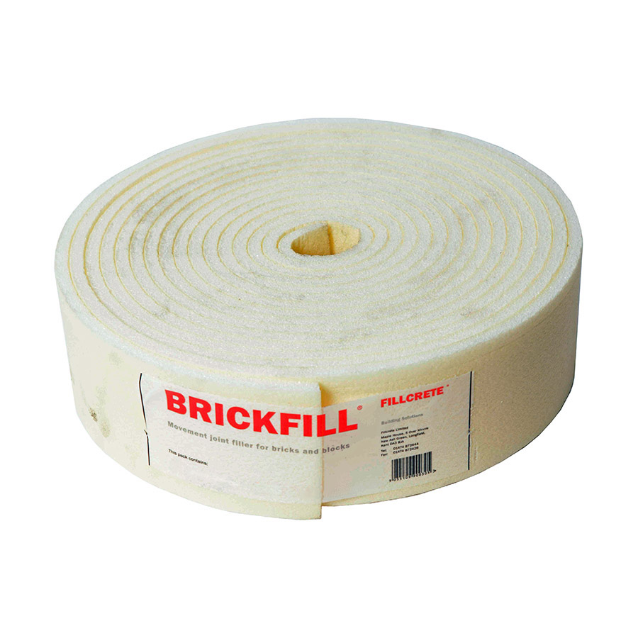 Brickfill 12mm x 100mm Closed Cell Polyethene Expansion Joint 10m Roll image 0