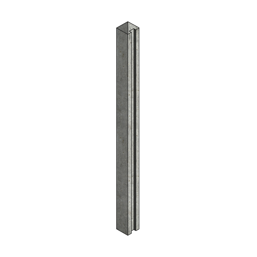 Concrete Post Slotted End 100mm x 125mm x 2.66m image 0
