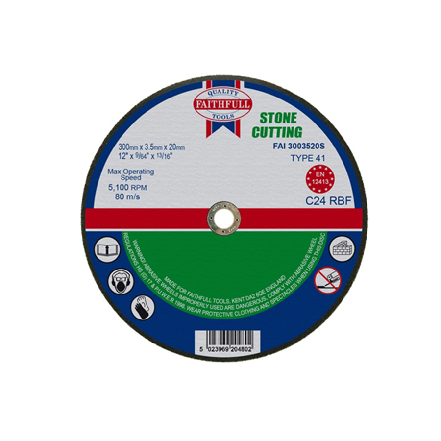 Faithfull Cut Off Disc for Stone 300mm x 3.5mm x 20mm image 0