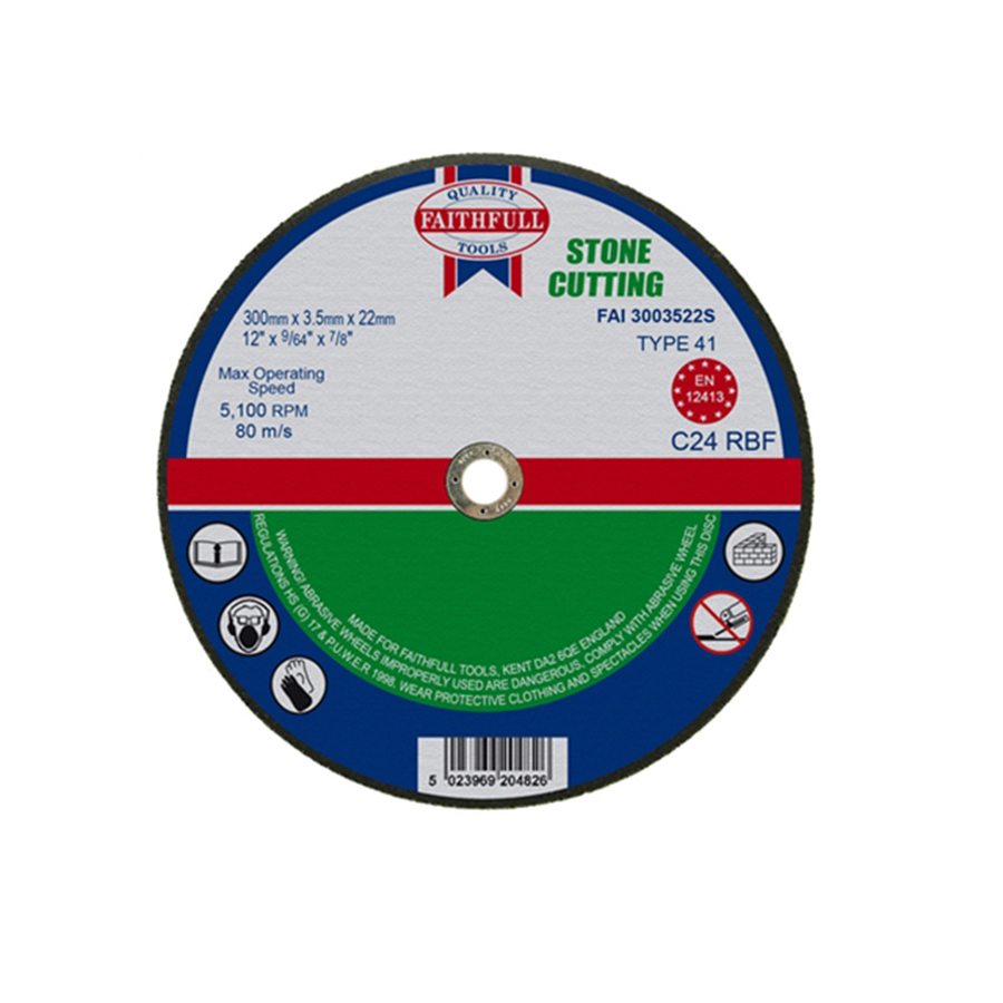 Faithfull Cut Off Disc for Stone 300mm x 3.5mm x 22mm image 0