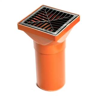 Polypipe Underground Drain 110mm Square Hopper UG417