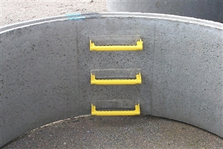 Precast Concrete Chamber Ring with Steps 1200mm Diameter 250mm Deep