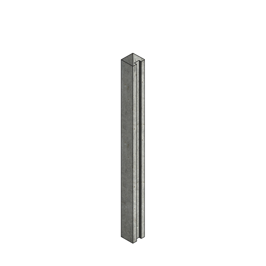 Concrete Post Slotted End 100mm x 125mm x 1.75m image 0