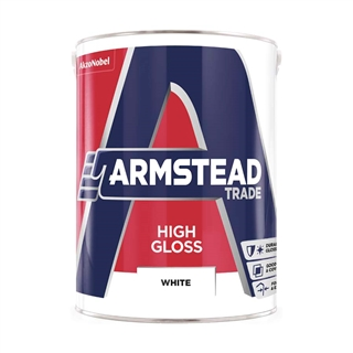 Armstead Trade High Gloss White 5 Litre
