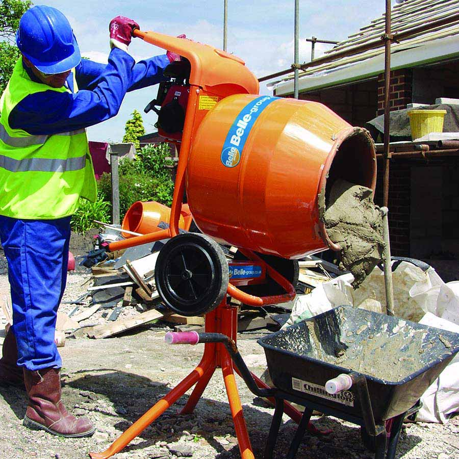 Belle Minimix 150 Concrete Mixer 110V with Stand image 1