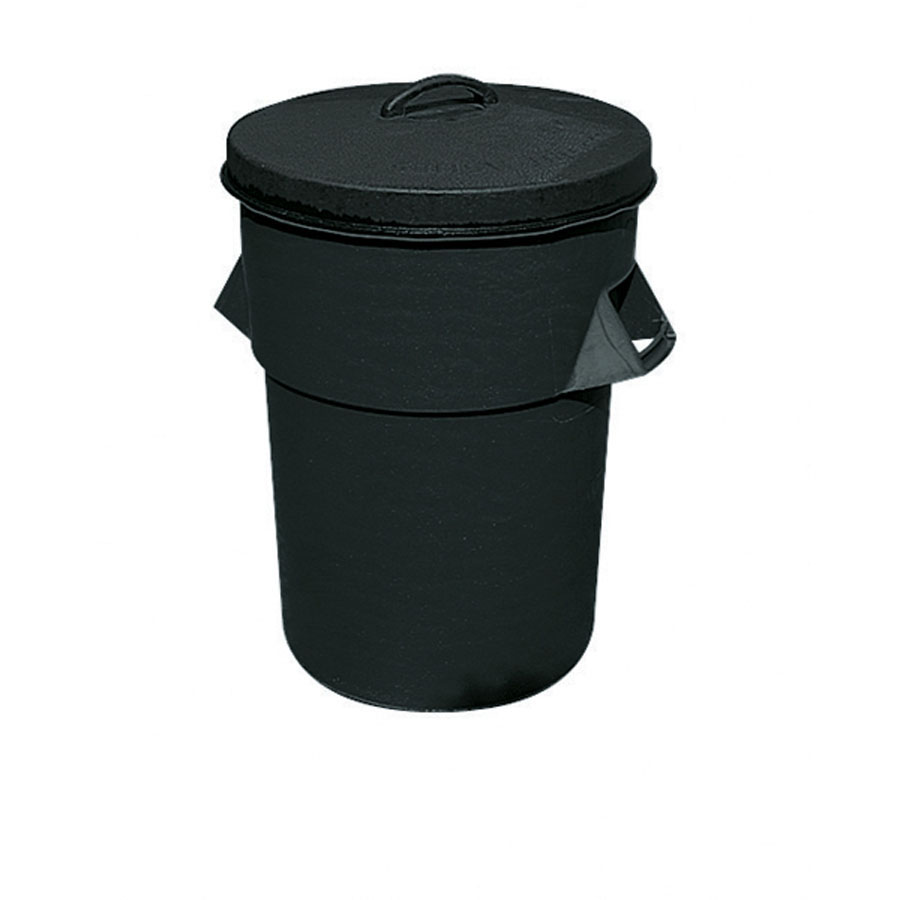 Plastic Dustbin 94L With Lid image 0