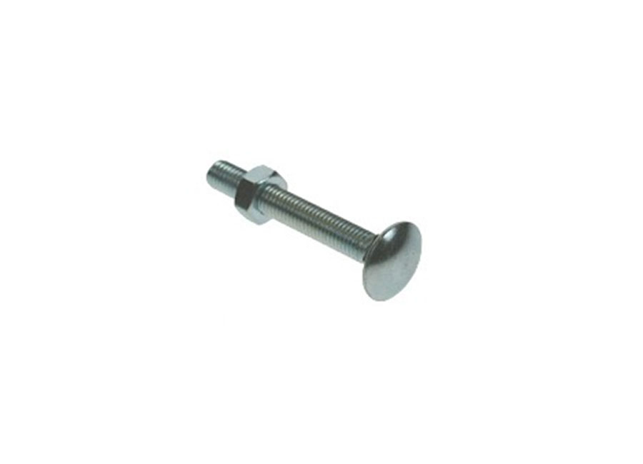 M10 x 130mm Carriage Bolts & Nuts BZP image 0