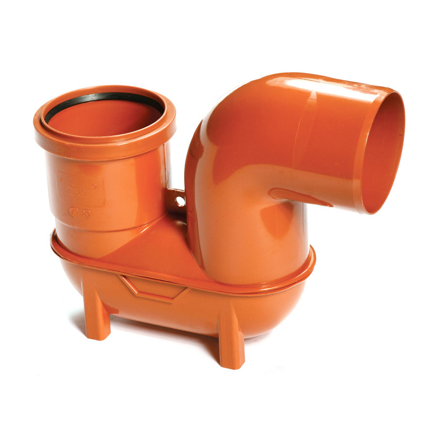 Polypipe Underground Drain 110mm Lowback 'P' Trap UG498 image 0