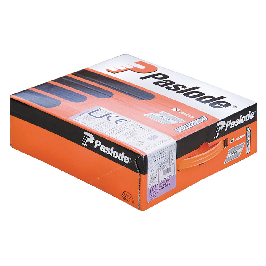 Paslode 141210 63mm x 2.8mm RG Galvanised Plus (Pack of 3300 & 3 Fuel Cells) image 0