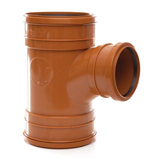 Polypipe Underground Drain 160mm 87½° Triple Socket Unequal Junction UG643