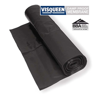 Polythene Film Damp Proof Membrane 500Mµ BBA Black 4m x 12.5m