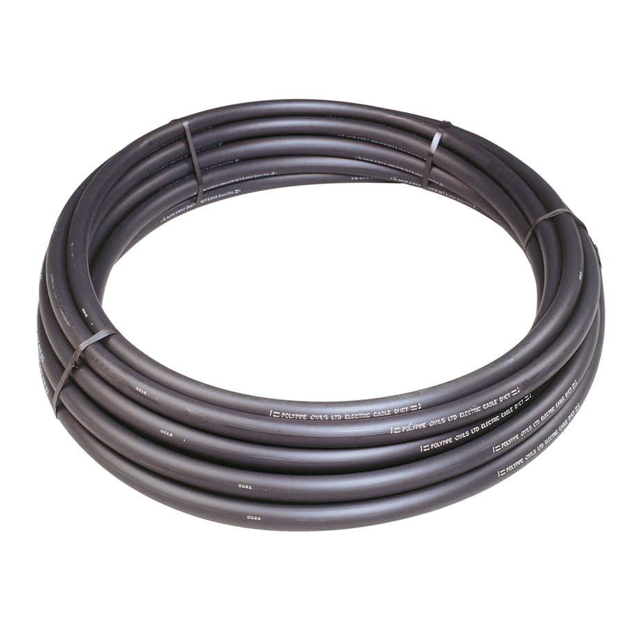 Black Printed Electric Duct Coil 63mm x 50m RC63X50BE image 0