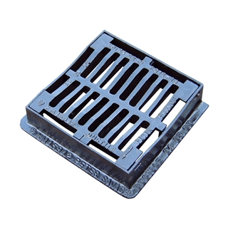 C250 Dished Gully Grate and Frame 300mm x 300mm x 50mm Depth