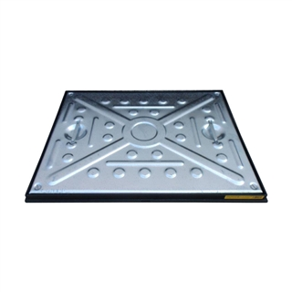 5 Tonne Single Seal Manhole Cover and Frame 600mm x 450mm x 25mm Depth
