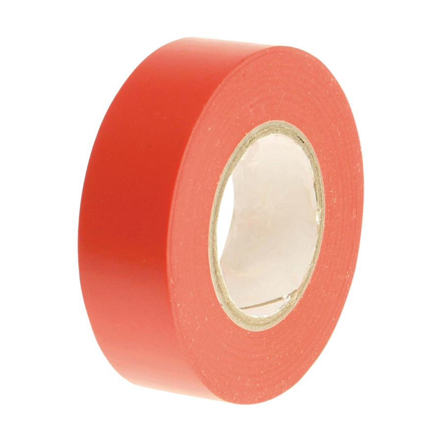 Faithfull PVC Electrical Tape Red 19mm x 20m image 0