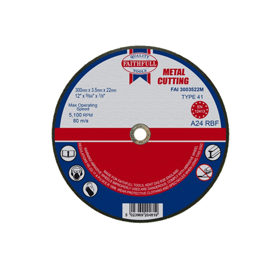 Faithfull Cut Off Disc for Metal 300mm x 3.5mm x 22mm image 0