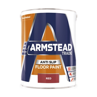 Armstead Trade Anti-Slip Floor Paint Red 5 Litre