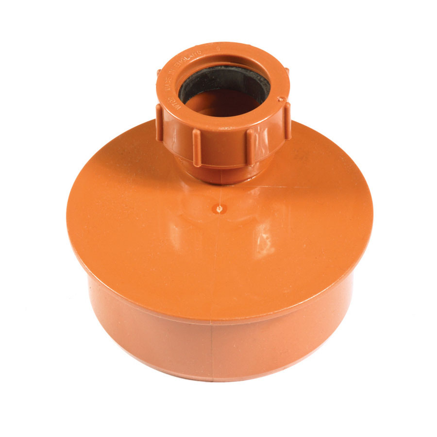 Polypipe Underground Drain 110mm Waste Adapter 32mm UG455 image 0