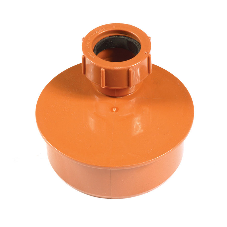Polypipe Underground Drain 110mm Waste Adapter 40mm UG456 image 0