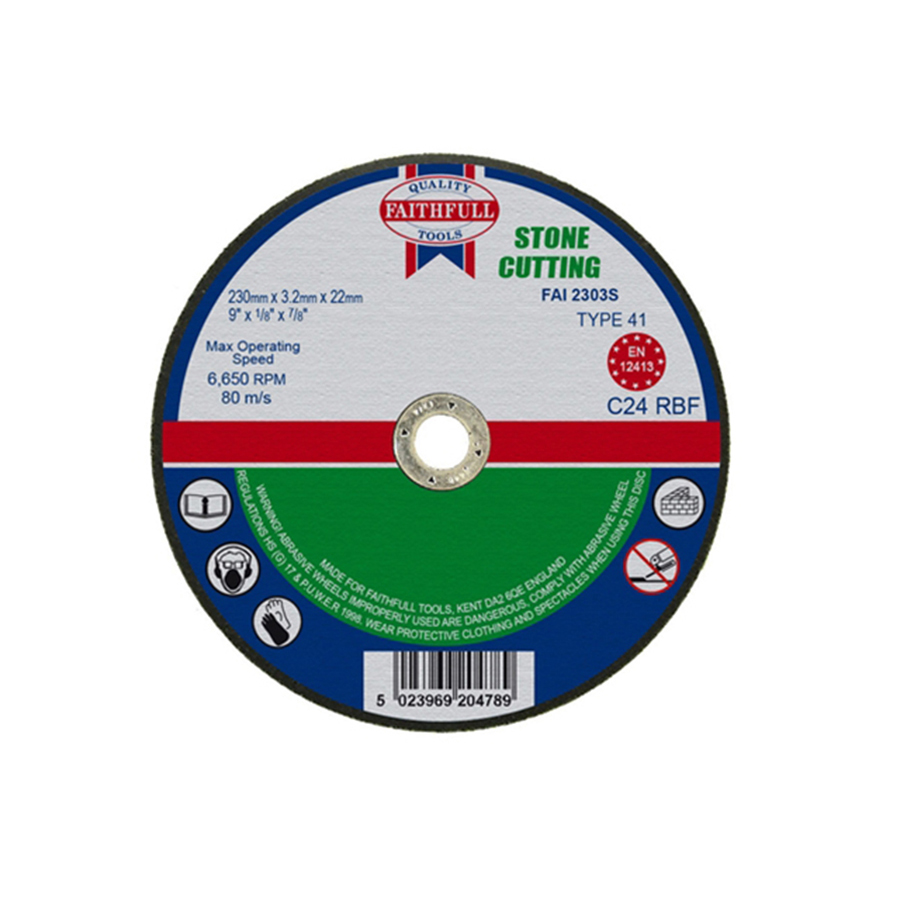 Faithfull Cut Off Disc for Stone 230mm x 3.2mm x 22mm image 0
