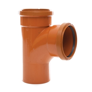 Polypipe Underground Drain 110mm 87½° Double Socket Equal Junction UG424
