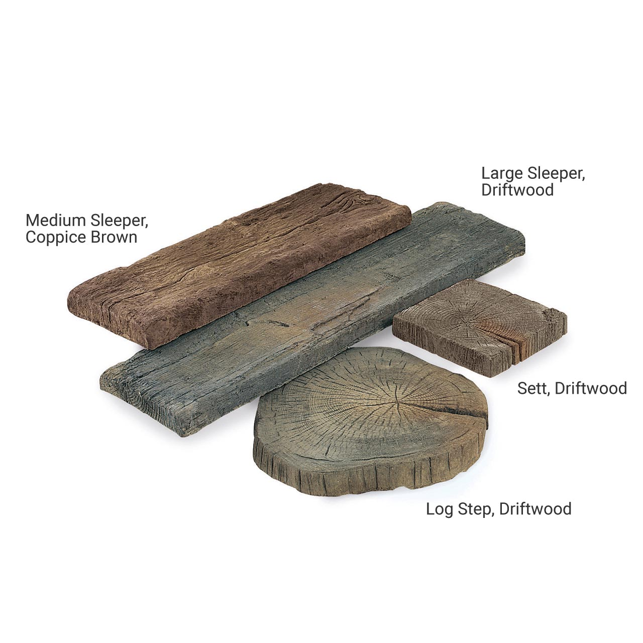 Timberstone Sett 225mm x 225mm x 50mm Coppice Brown image 0