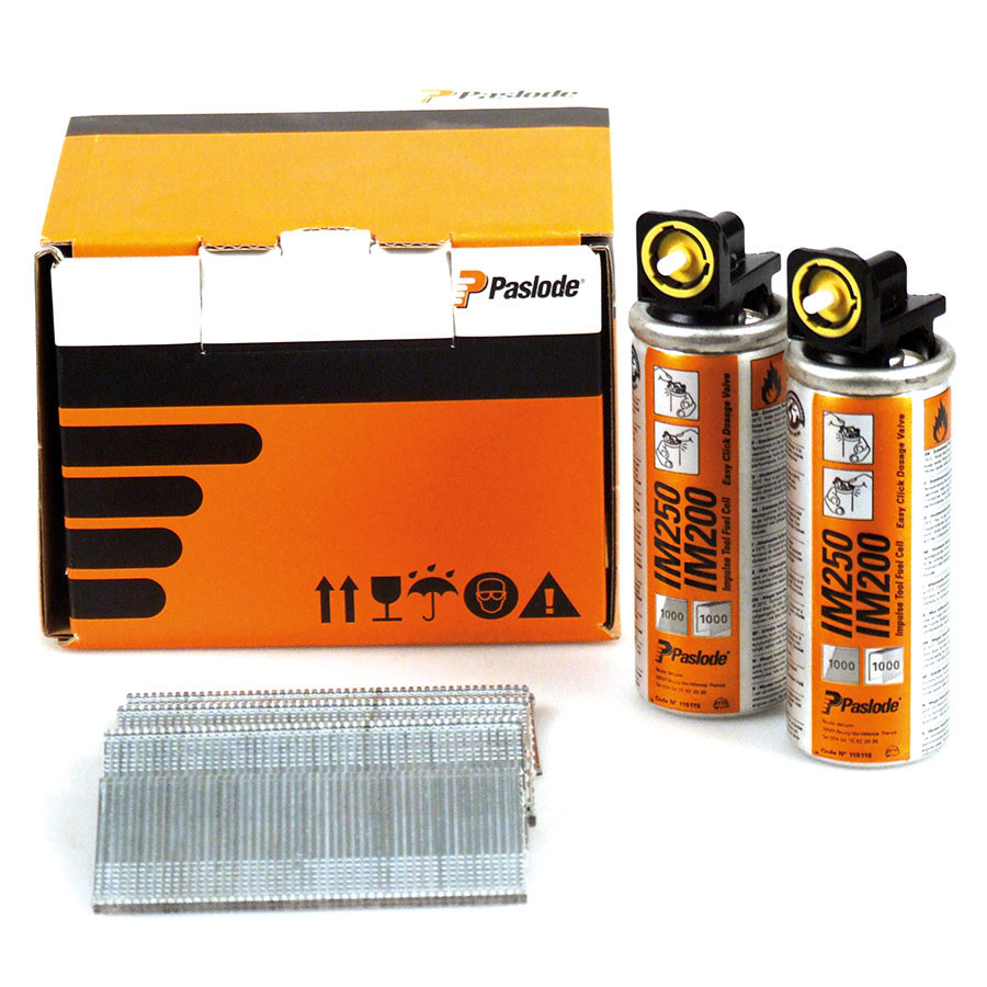 Paslode 921591 F16 x 50mm Galvanised (Pack of 2000 & 2 Fuel Cells) image 0