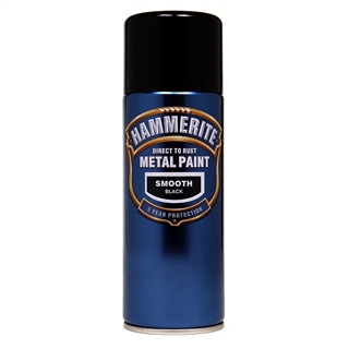 Hammerite Smooth Black Paint 400ml Aerosol
