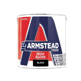 Armstead Trade High Gloss Black 1 Litre