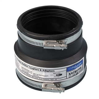 Polypipe Flexicon 130mm-145mm 110mm-125mm Drainage Adapter XAC125/145
