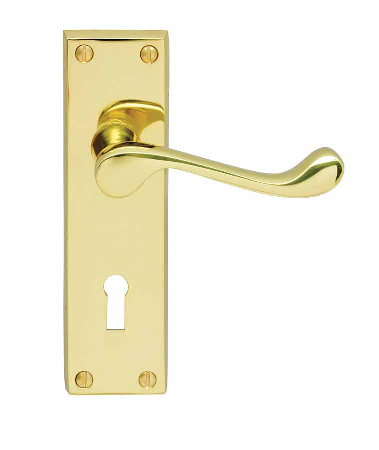 Contract Victorian Scroll Lever Lock Handle Chrome image 0