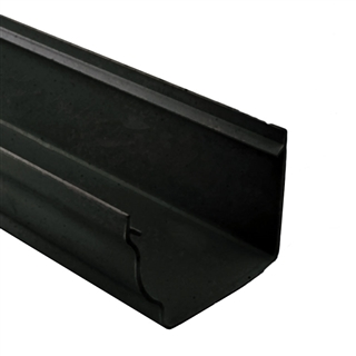 Polypipe High Capacity Gutter 117mm x 75mm 4m Black RH701