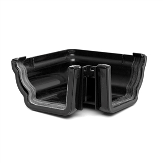 Polypipe High Capacity Gutter 90° Angle External Black RH703