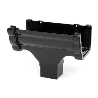 Polypipe High Capacity Gutter Running Outlet Black RH705