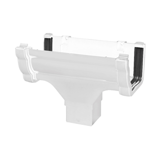 Polypipe High Capacity Gutter Running Outlet White RH705