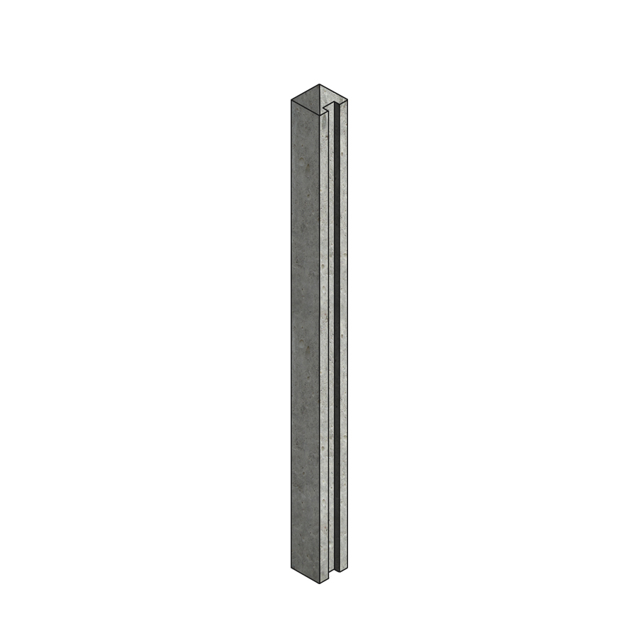 Concrete Post Slotted End 100mm x 125mm x 2.36m image 0