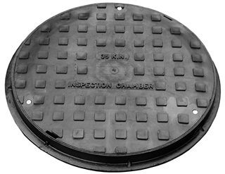 Manhole Cover & Frame 450mm A15 Castlid Plastic Frame PPIC