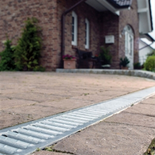 ACO HexDrain Channel 1m with Galvanised Grating