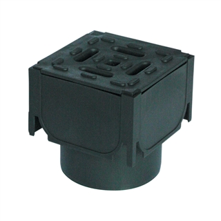 Aco Hexdrain Corner Unit With Black Plastic Grating