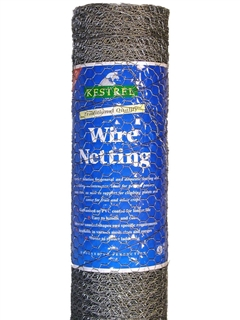 Kestrel Galvanised Wire Netting 1200mm x 50mm x 50mm 19g Mesh 10m Roll