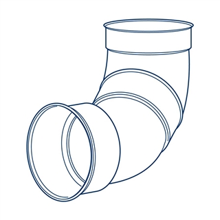 Polypipe Polysewer 150mm 90° Double Socket Short Radius Bend PS611