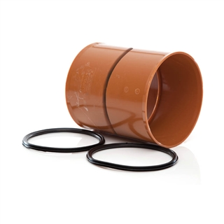 Polypipe Polysewer 225mm Pipe Coupler PS1001