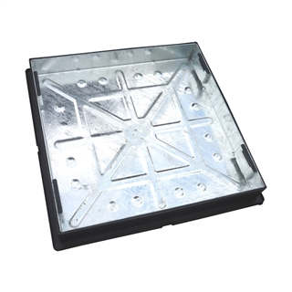 Block Pavior Internal Recessed Tray Manhole Cover and Frame 600mm x 600mm x 95mm Depth