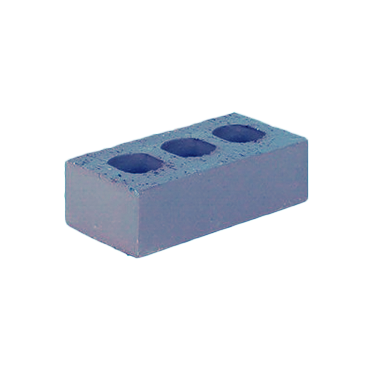 73mm Class B Blue Perforated Engineering Brick image 1