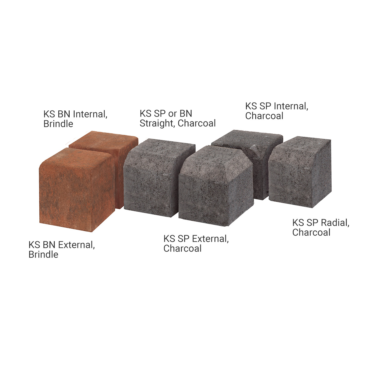 Pavekerb Type K-S Kerb BN or SP (10 per m) Charcoal image 0