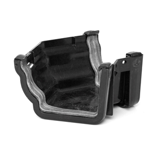 Polypipe High Capacity Gutter 135° Angle External Black RH704