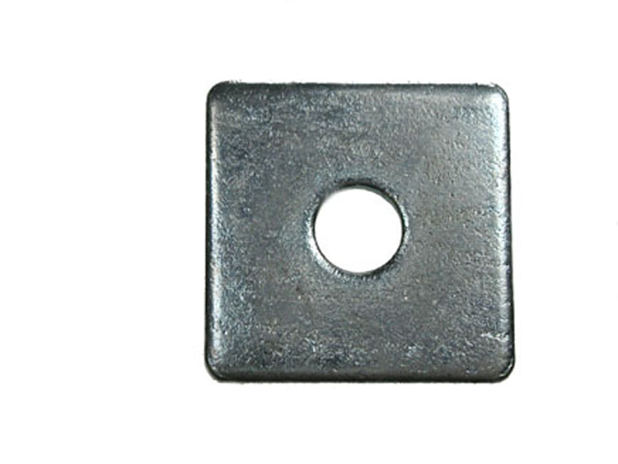 M12 50mm x 50mm x 3mm Square Plate Washer BZP image 0