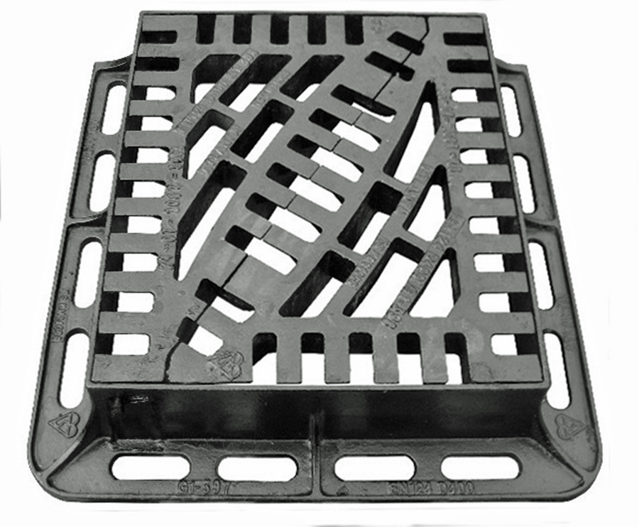 Tri-Star Double Triangle D400 Gully Grate & Frame 430mm x 370mm image 0